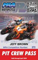 MRA Pit Crew Pass